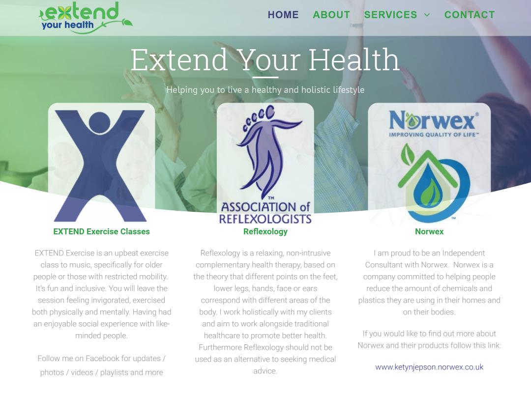Extend Your Health Website